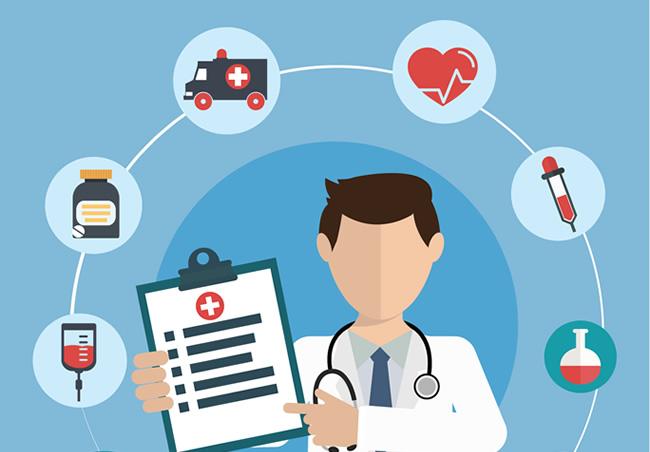 ilustração médico plano de saúde